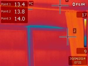 image thermographique d'une fenêtre ancienne