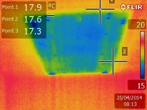 exemple perte de chaleur de la trappe de visite d'un comble